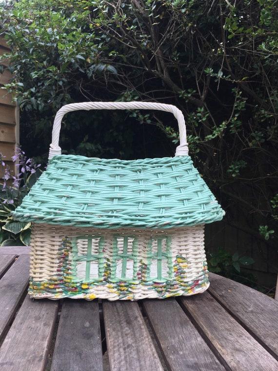 Vintage  novelty wicker basket