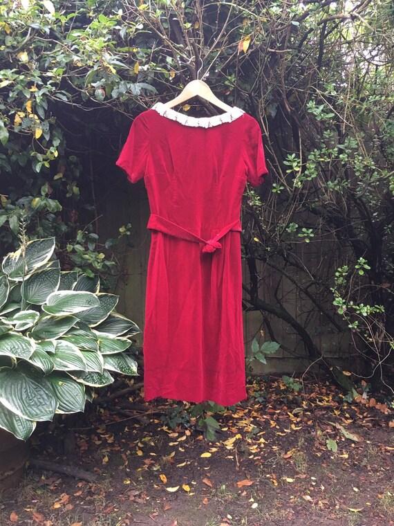 Vintage 40s/50s velvet dress S - image 3