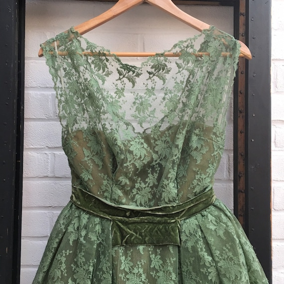 1950s Hardy Amies lace dress