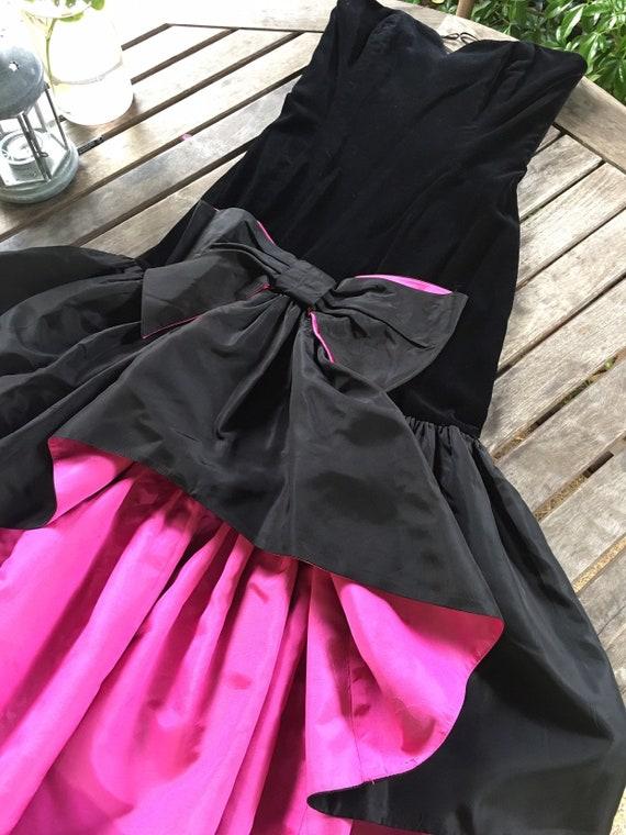 Vintage 80s Travilla evening dress