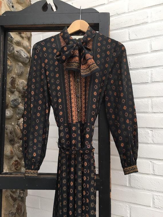 Vintage 70s Horrockses boho dress S/M