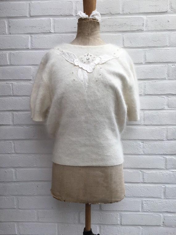 Vintage 80s puff sleeve jumper - image 2