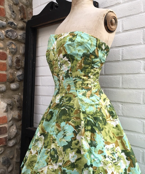 Vintage 50s Frank Usher novelty print bubble dress