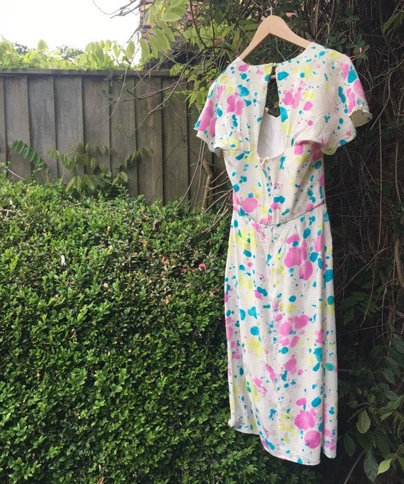 Vintage novelty print silk dress - image 10