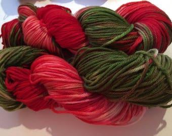 Rosy Apple cider dk hand dyed yarn
