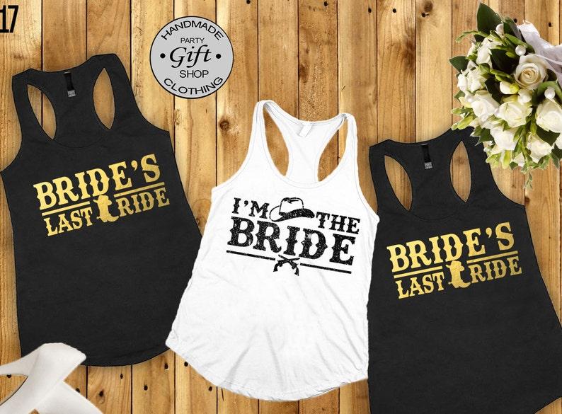 bab21ef2350db Brides last ride Bridal party shirts, Bridesmaid gift, bridesmaid shirt,  bridal shirts,County Bachelorette party shirts, Bridesmaid shirt