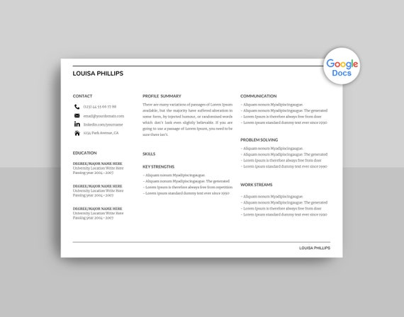 Landscape Google Docs Resume Template Google Docs Resume Etsy When using google docs, you will encounter blank pages in a document from time to time. etsy