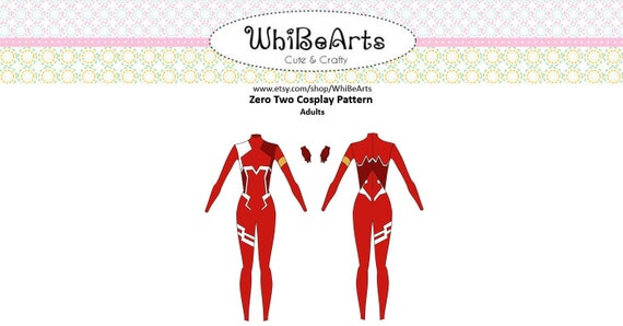 Custom Size Zero Two Bodysuit Cosplay Pattern Superhero Etsy