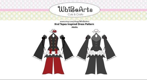 Krul Tepes Cosplay Pattern PDF Sewing Pattern Multi Size | Etsy