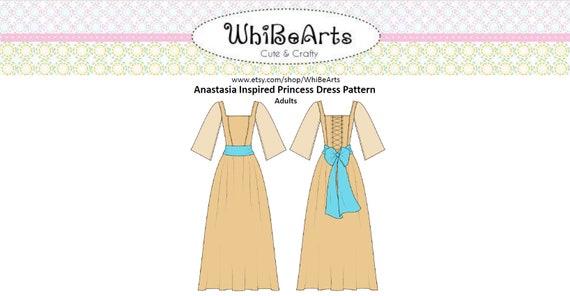 Anastasia Romanov Cosplay Pattern PDF Sewing Pattern Multi | Etsy