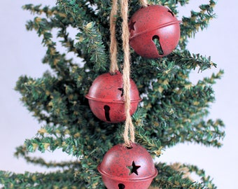 red metal jingle bells rusty bells burgundy bells christmas metal bells sleigh bells bell ornaments patio tree outside jingle bells