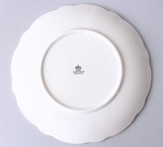 Cake Side Plate,Bone China England Autumn Harvest Thanksgiving Gift Royal Winton Porcelain Dessert Plate Vintage Plate Fruits Pattern