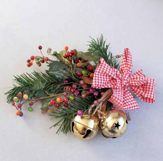 Hanging Christmas Decorations Wall.Jingle Bells Vintage Christmas Rustic Ornaments Christmas Decor Tree Ornaments Holiday Decorations Wall Hanging Christmas Tree Pics