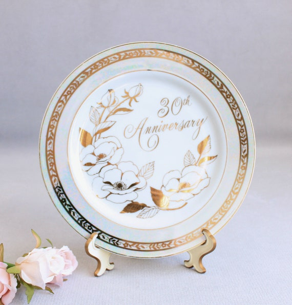 30th Anniversary Plate, Vintage Plate Anniversary, To Mother and Dad, Fine  China, Anniversary Gift, Fine China, Celebration, Made in Japan
