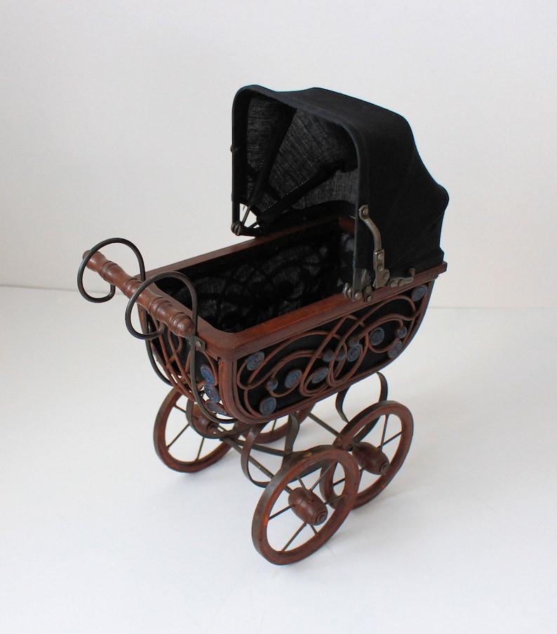 Wicker Vintage Stroller 15 Wicker Doll Buggy Doll | Etsy