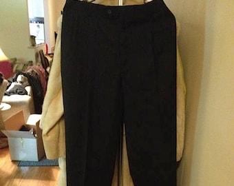 Christian Dior black / dark blue stripe pants.  Classic.