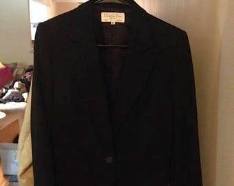 Christian Dior black blazer / jacket.  Classic and Remarkable!