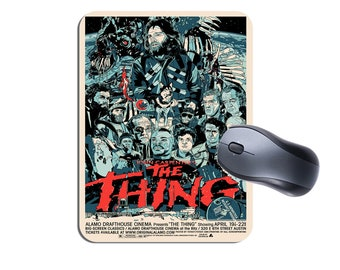 The Thing Movie Poster Mouse Mat Mousepad. High Quality Computer Mouse Pad. Classic Vintage Horror Movie Memorabilia Gift. Birthday Gift