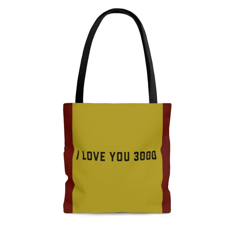 love you 3000 Quote Avengers Endgame Tote Bag Iron Man Quote Bag Avengers Fan Gift