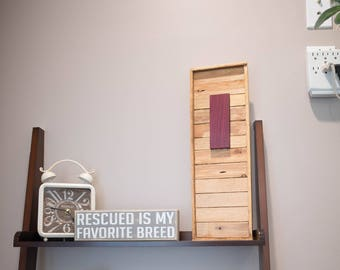 Purpleheart and Reclaimed Cedar Chic Wall Decor