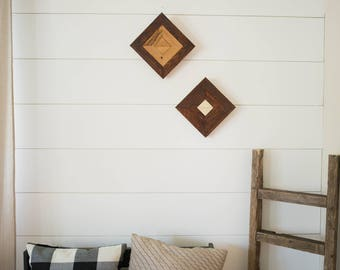 Reclaimed cedar boho wall decor