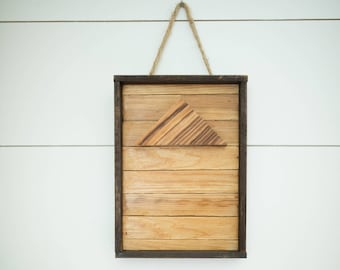 Zebrawood & Reclaimed Cedar Boho Wall decor