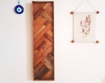 Sapele Mahogany & Reclaimed Cedar Wall decor