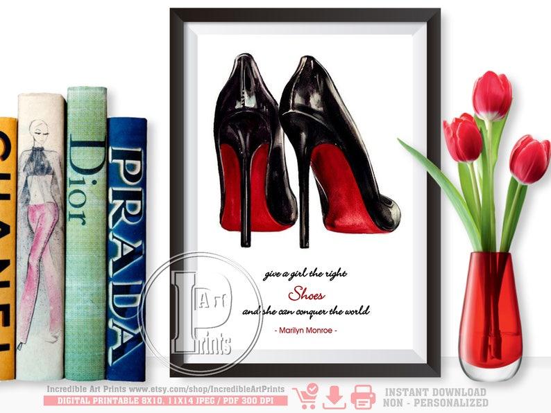 7e22d4e755a Christian Louboutin Shoes Fashion Quote Marilyn Monroe She