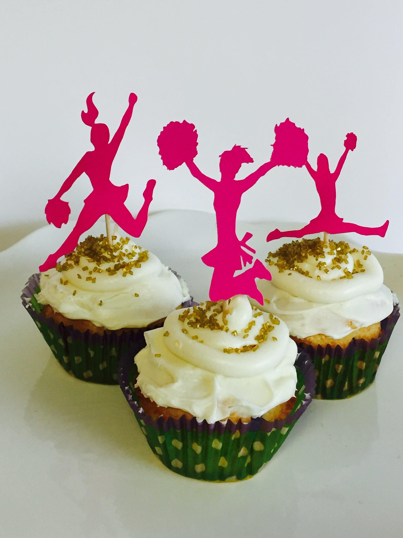 Cheerleader Cupcake Picks Topsimages