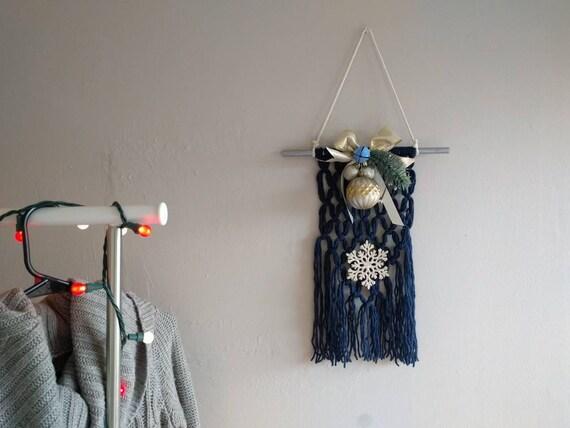 Holiday Yarn Wall Hanging Christmas Decor Wall Decor Yarn | Etsy