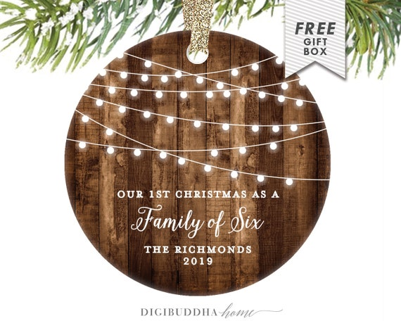 Family Christmas Gift Ideas.1st Christmas As A Family Of Six Family Christmas Gift Ideas Fourth Baby Christmas Ornament For Family With Four Kids 4th Baby Shower Gift