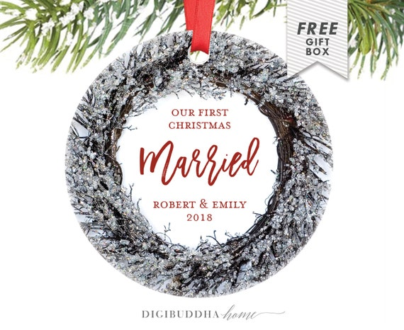 image 0 - Our First Married Christmas Ornament