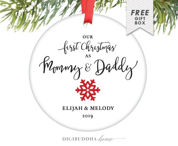 Christmas Gifts For Parents 2019.Our First Christmas As Mommy And Daddy Ornament New Baby Ornament New Parents Ornament 2019 Ornament Mommy Ornament New Mom And Dad Gift