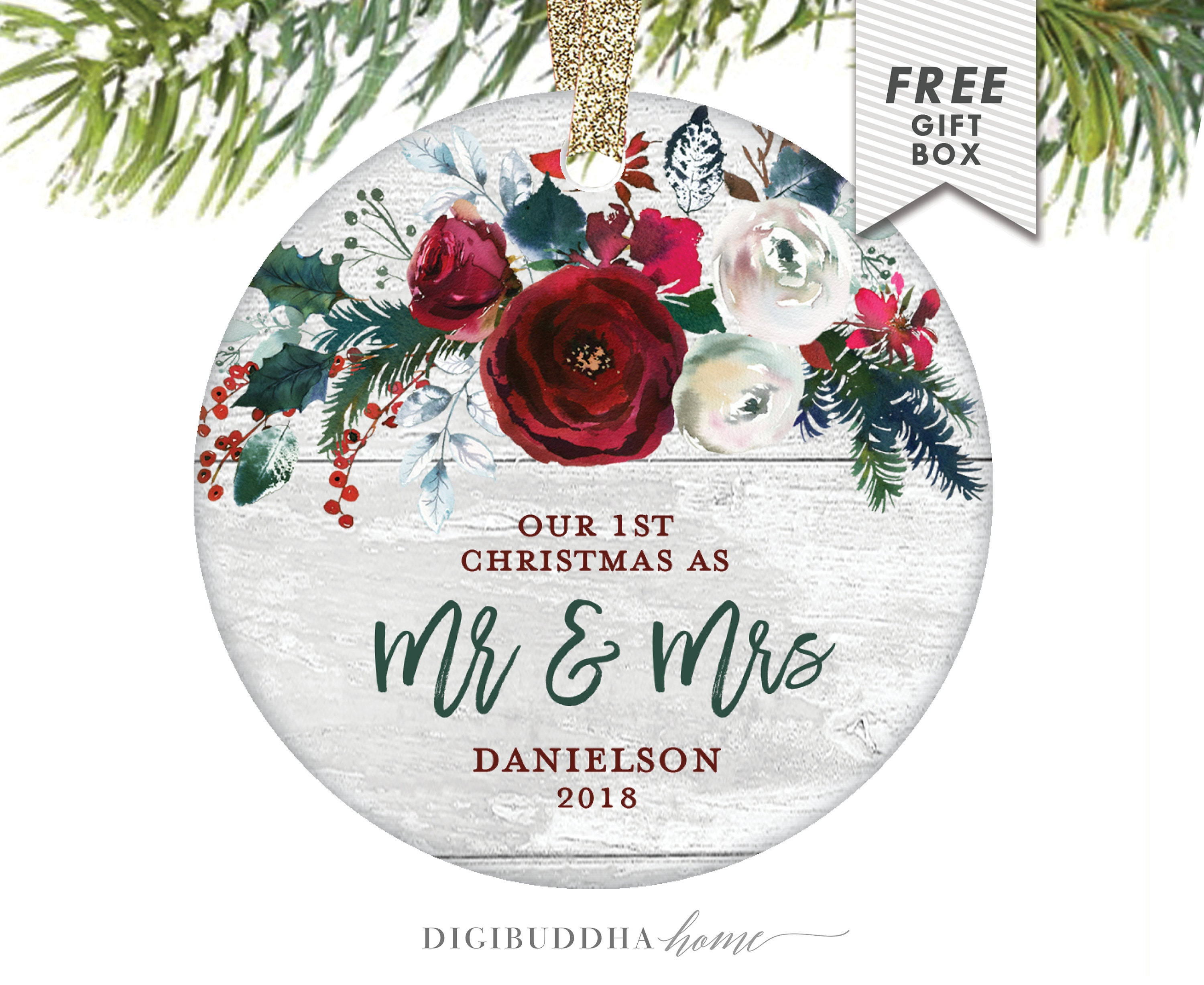 Christmas Ornament Wedding Gift: Wedding Gift Ideas For Bride First Christmas Ornament Mr