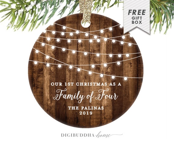 Christmas Gifts For New Parents.2nd Baby Gift For New Parents First Christmas As A Family Of Four Christmas Ornament Personalized Ornament Baby Shower Gift Newborn Baby