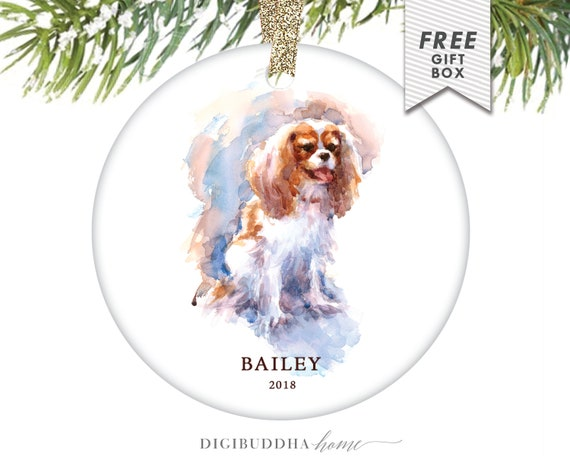 image 0 - Cavalier King Charles Spaniel Ornament Personalized Dog Etsy