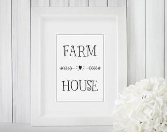 Farm House Printable | Farm House Decor | Wall Art | Digital Print | Print