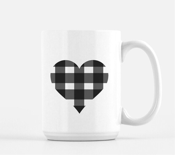 Buffalo Check Mug Mug Buffalo Check Tea Mug Coffee Mug Etsy