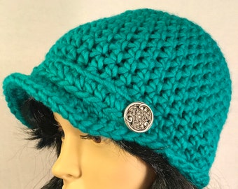 Read All About It Newsboy Hat - Teal