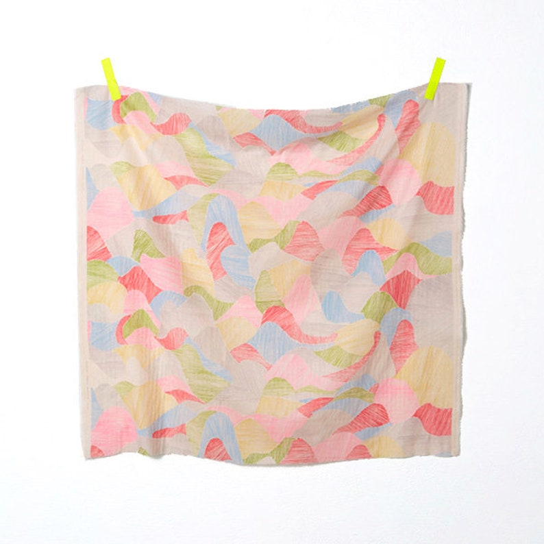 50cm Nani Iro Japanese Fabric Kokka Mountain View Double Gauze Pink I
