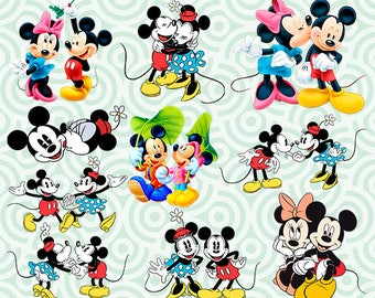 Minnie Mouse Clipart Minnie Png Minnie Mouse Digital Disney Etsy