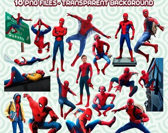 Spiderman Homecoming Clipart, Spiderman PNG, Superhero Images, Spiderman Files,  Instant Download 42