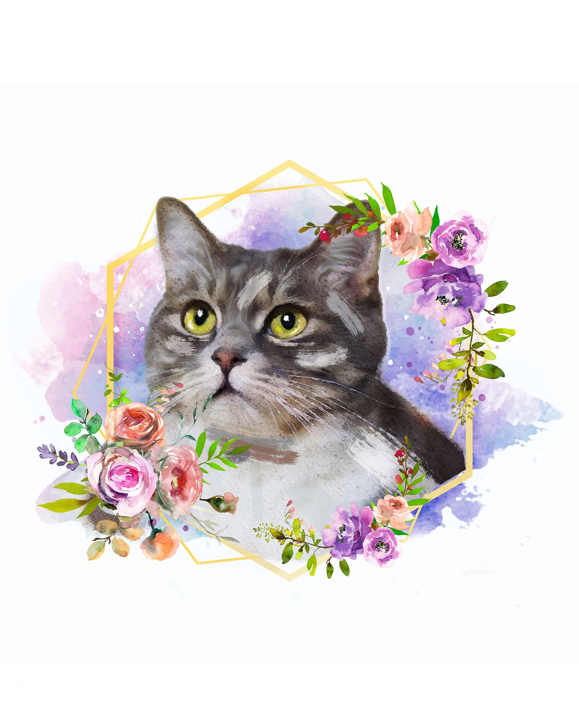 Custom Cat Watercolor Portrait~Cat Portrait~Watercolor Pet Portrait~Custom Pet Portrait~Gift for Pet Lover~Pet Memorial Portrait