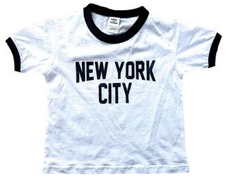 590e754380aa New York City Toddler John Lennon Ringer NYC Baby Tee Beatles T-Shirt White