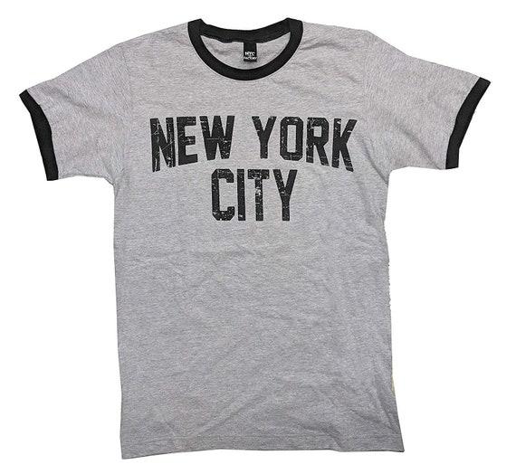 Nyc Factory John Lennon Tee New York City Ringer T-Shirt White Nyc Factory