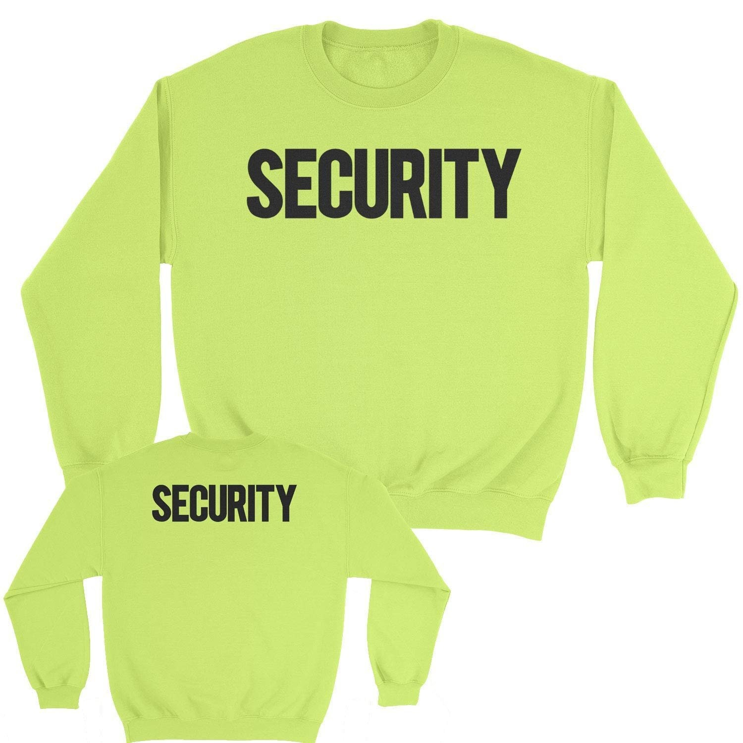 Black-Neon, 4XL NYC FACTORY Security Polo Shirt Front Back Print Mens Tee Staff Event Uniform Bouncer Screen Printed