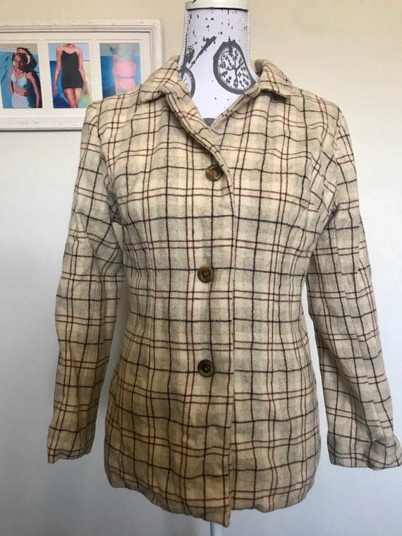 Rare Mary Quant 1960s wool jacket mod
