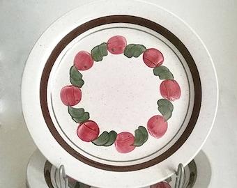 Set of 5 Rorstrand Brigitta handpainted plates
