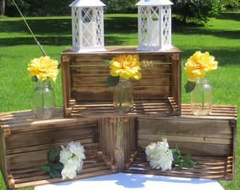Rustic, country wooden crates