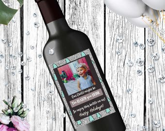 Christmas Wine labels for Caregivers | Teachers gift | daycare | gift idea (Printable)